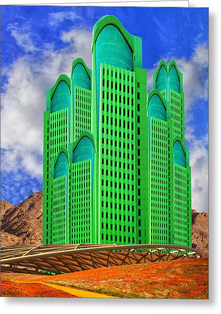 Archangel Greeting Cards - EMERALD DESERT Palm Springs Greeting Card by William Dey