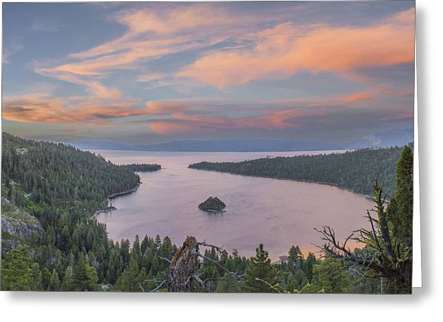 Emerald Greeting Cards - Emerald Sunset Greeting Card by Jeremy Jensen