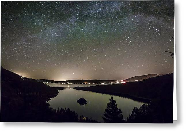 Emerald Greeting Cards - Emerald Galaxy Greeting Card by Jeremy Jensen