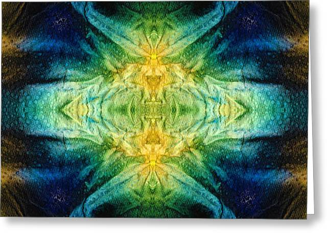 Emerald Kiss Abstract Art By Sharon Cummings Greeting Card by Sharon Cummings