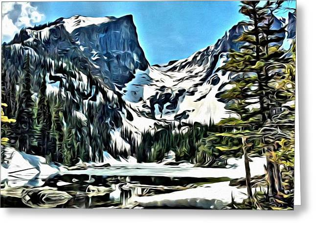 Lanscape Greeting Cards - Emerald Lake Greeting Card by Florian Rodarte