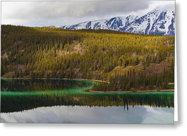 Klondike Gold Rush Greeting Cards - Emerald Lake Panorama Carcross Yukon Greeting Card by Blake Kent