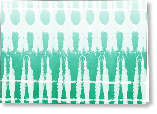 Emerald Ombre  Greeting Card by Linda Woods