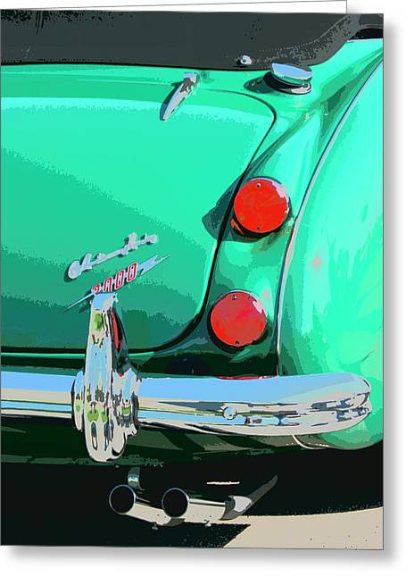 Palm Springs Car Show Greeting Cards - EMERALD Palm Springs Greeting Card by William Dey