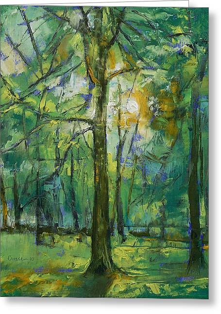 Emerald Greeting Cards - Emerald Twilight Greeting Card by Michael Creese