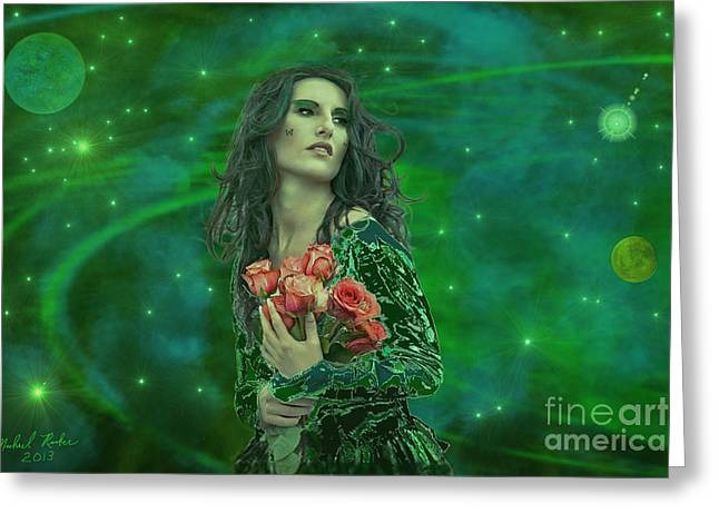 Rucker Greeting Cards - Emerald Universe Greeting Card by Michael Rucker