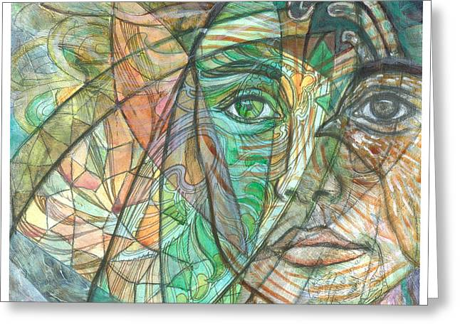 Carrier Greeting Cards - Emerald Visionary Greeting Card by Elizabeth D
