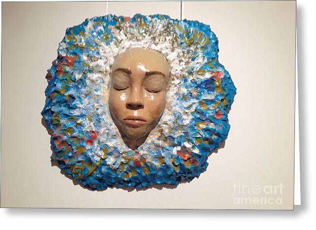 Wet Reliefs Greeting Cards - Emerge Greeting Card by Catherine Maroney