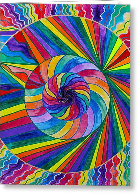Frequency Products Greeting Cards - Emerge Greeting Card by Teal Eye  Print Store