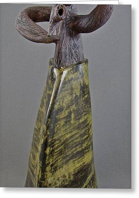 Figures Ceramics Greeting Cards - Emergence #3 Greeting Card by Mario Perron