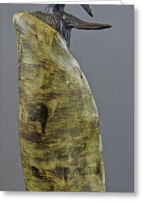 Transformations Ceramics Greeting Cards - Emergence #5 Greeting Card by Mario Perron