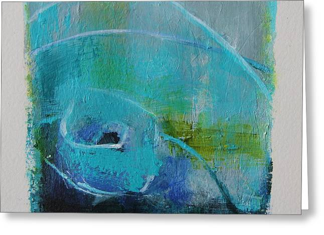 Emergence Paintings Greeting Cards - Emergence I Greeting Card by Tracy Male