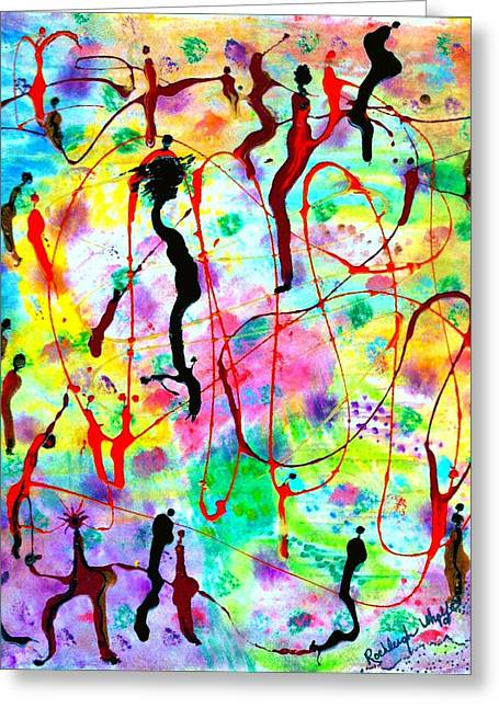 Morphing Mixed Media Greeting Cards - Emergence II Greeting Card by Rochleigh  Z   Wholfe