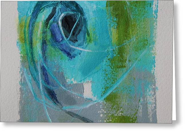 Emergence Paintings Greeting Cards - Emergence II Greeting Card by Tracy Male
