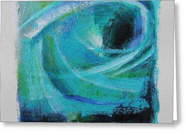 Emergence Paintings Greeting Cards - Emergence III Greeting Card by Tracy Male