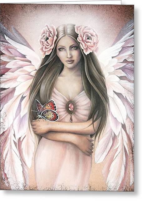 Angel Art Greeting Cards - Emergence Greeting Card by Jessica Galbreth