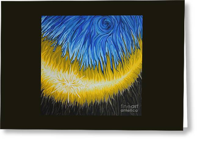 Emergence Paintings Greeting Cards - Emergence of Now Greeting Card by Marie Spence