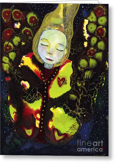 Cocoon Mixed Media Greeting Cards - Emerging Greeting Card by AnaLisa Rutstein