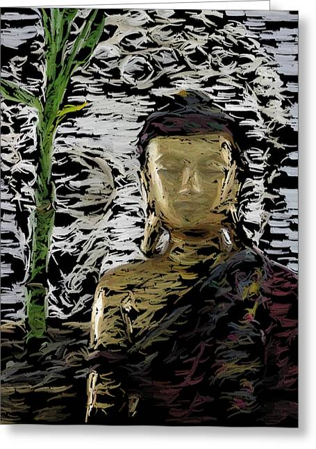 Enlightened Path Greeting Cards - Emerging Buddha Greeting Card by Digital Moments