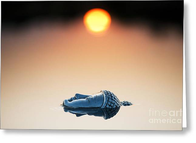 Spirituality Photographs Greeting Cards - Emerging Buddha Greeting Card by Tim Gainey