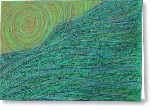 Emergence Pastels Greeting Cards - Emerging Energy #2 Greeting Card by Jamie Rogers