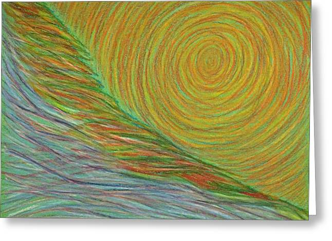 Transformations Pastels Greeting Cards - Emerging Energy #1 Greeting Card by Jamie Rogers