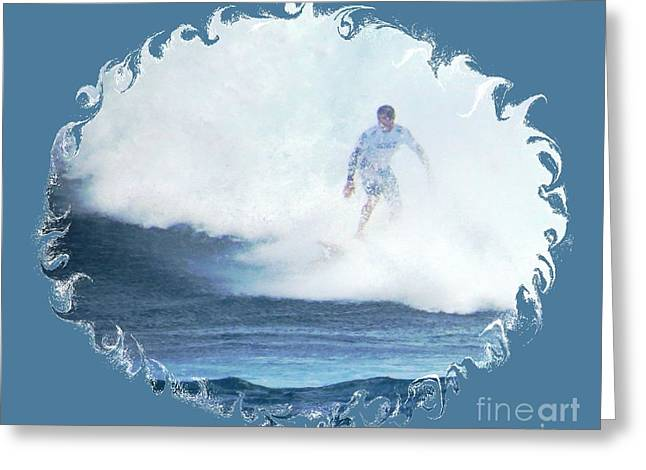 Surfing Photos Greeting Cards - Emerging from the Mist Greeting Card by Scott Cameron