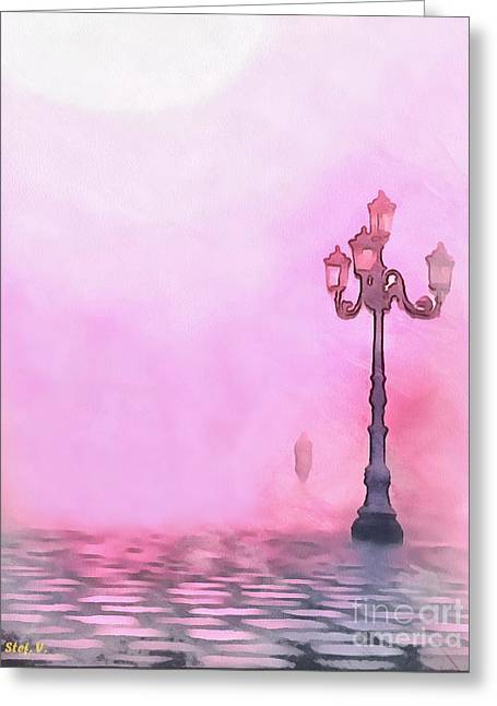 Nebbia Greeting Cards - Emerging from the mist Greeting Card by Stefania Vignotto