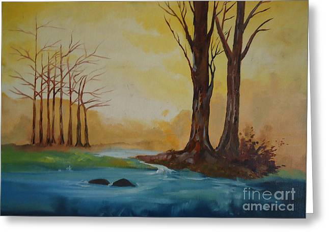 Emerging Light Of Hopes Greeting Card by Jnana Finearts
