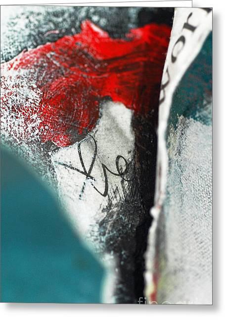 Anahi Decanio Mixed Media Greeting Cards - Emerging Zen Abstract Greeting Card by Anahi DeCanio