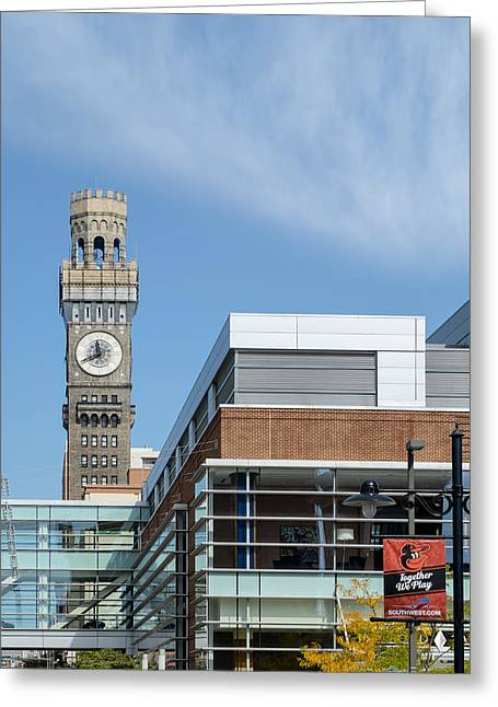 Art Of Building Greeting Cards - Emerson Bromo-Seltzer Tower Greeting Card by Susan Candelario
