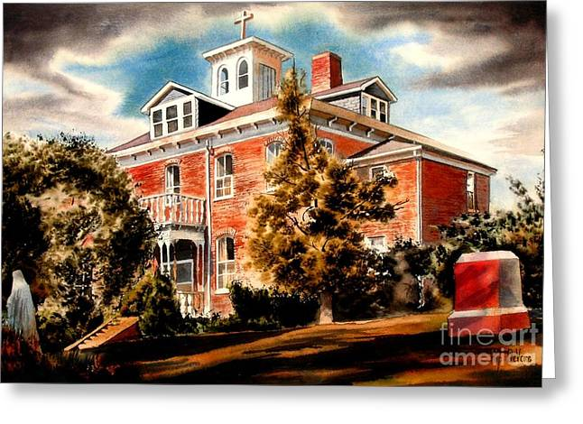 Emerson Greeting Cards - Emerson House Greeting Card by Kip DeVore
