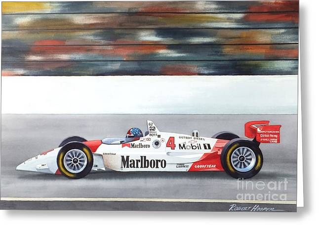Indy Car Greeting Cards - Emerson Greeting Card by Robert Hooper