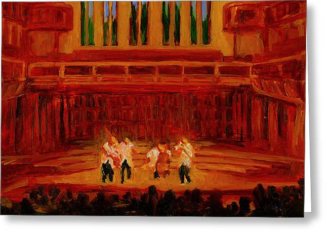 Quartet Paintings Greeting Cards - Emerson String Quartet Greeting Card by Jennifer Fox
