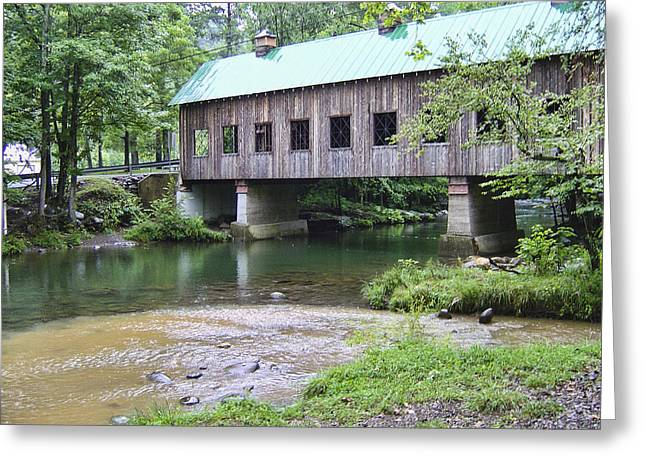 Gatlinburg Tennessee Greeting Cards - Emerts Cove Covered Bridge Greeting Card by Phyllis Taylor