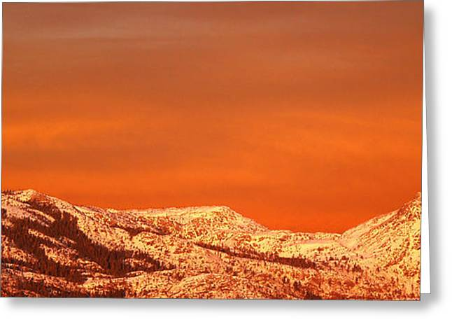 Snow Capped Greeting Cards - Emigrant Gap Greeting Card by Bill Gallagher