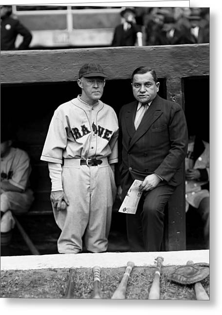 Owner Greeting Cards - Emil E. Fuchs with Johnny Evers Greeting Card by Retro Images Archive