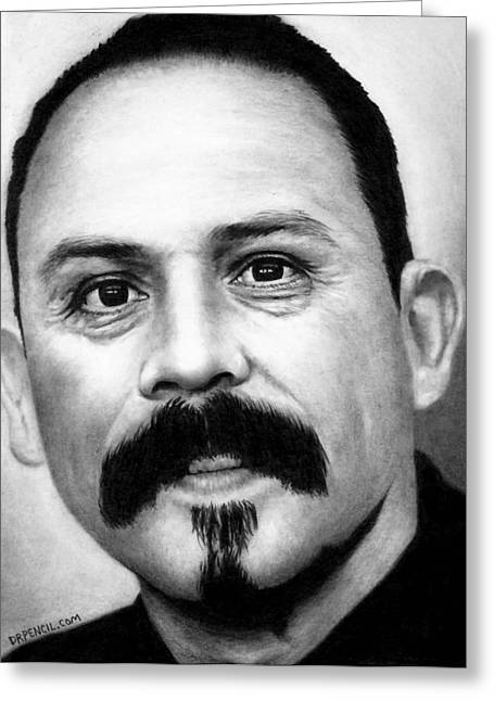 Emilio Greeting Cards - Emilio Rivera - Marco Alvarez Greeting Card by Rick Fortson