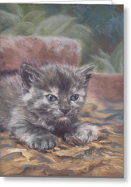 Domestic Cat Greeting Cards - Emily Greeting Card by Lucie Bilodeau