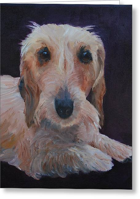 Miniature Dachshund Greeting Cards - Emily Greeting Card by Marcy Silverstein