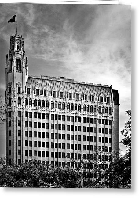 Art Deco Greeting Cards - Emily Morgan Hotel in San Antonio Greeting Card by Christine Till