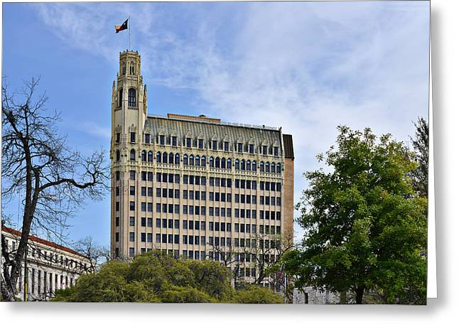 Emily Morgan Hotel San Antonio Greeting Card by Christine Till