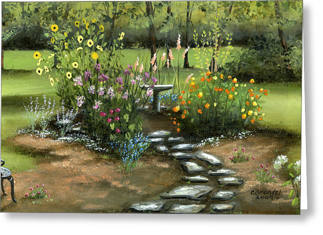 Emily's Garden Greeting Card by Cecilia Brendel