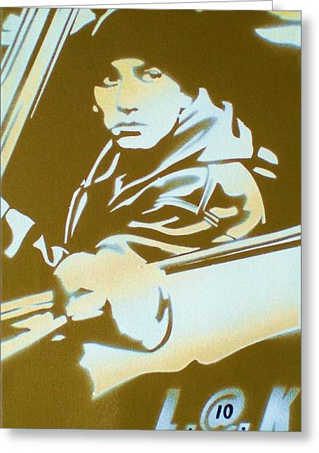 8 Mile Greeting Cards - Eminem 8 Mile Greeting Card by Leon Keay