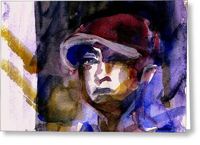 Eminem Paintings Greeting Cards - Eminem Greeting Card by Sandra Stone