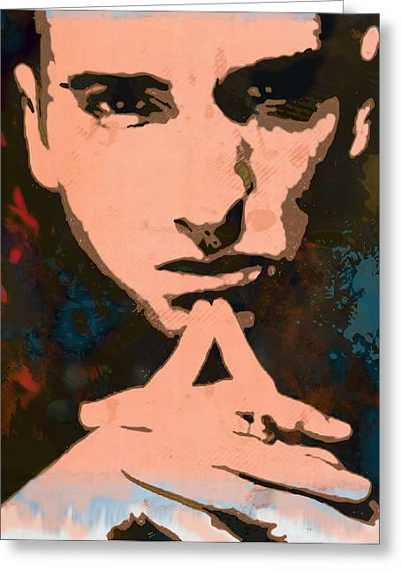 Featured Mixed Media Greeting Cards - Eminem - stylised pop art poster Greeting Card by Kim Wang