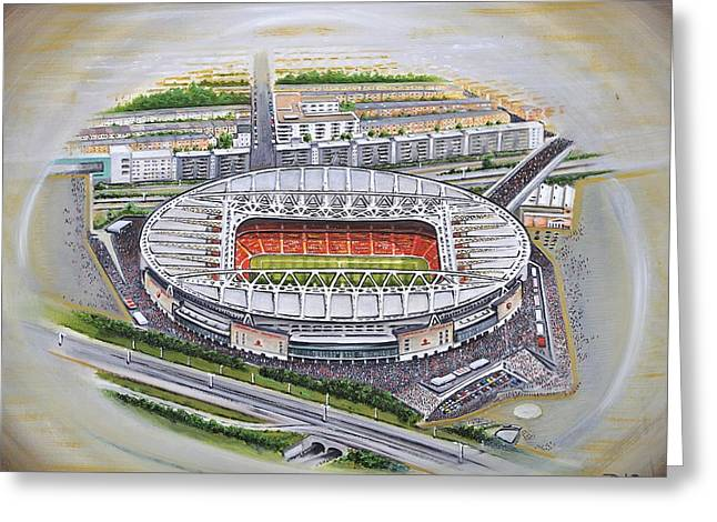 Art Mobile Greeting Cards - Emirates Stadium - Arsenal Greeting Card by D J Rogers