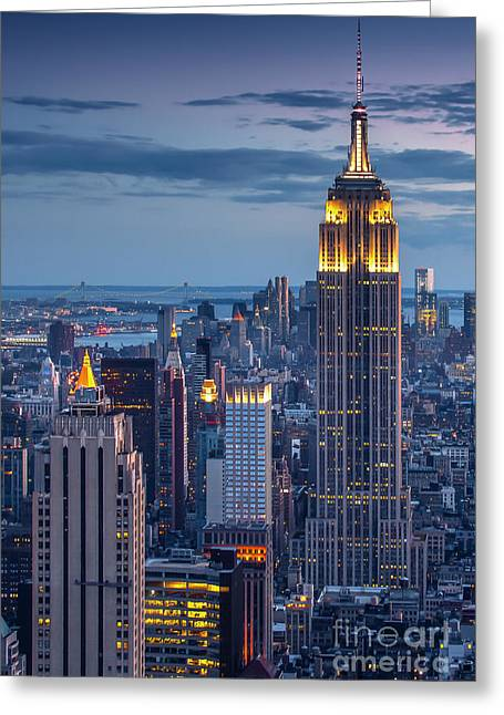 Marco Crupi Greeting Cards - Empire State Greeting Card by Marco Crupi