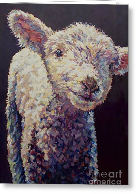 Ovine Greeting Cards - Emma Greeting Card by Patricia A Griffin