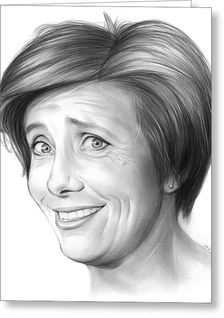 Emma Thompson Greeting Card by Greg Joens